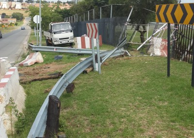 EMERGENCY REPAIRS TO BARRIERS AND PALLISADE